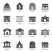 vládní budovy ikony
