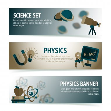 Physics science banners