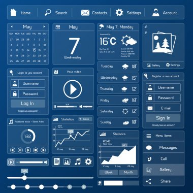 Flat user interface template