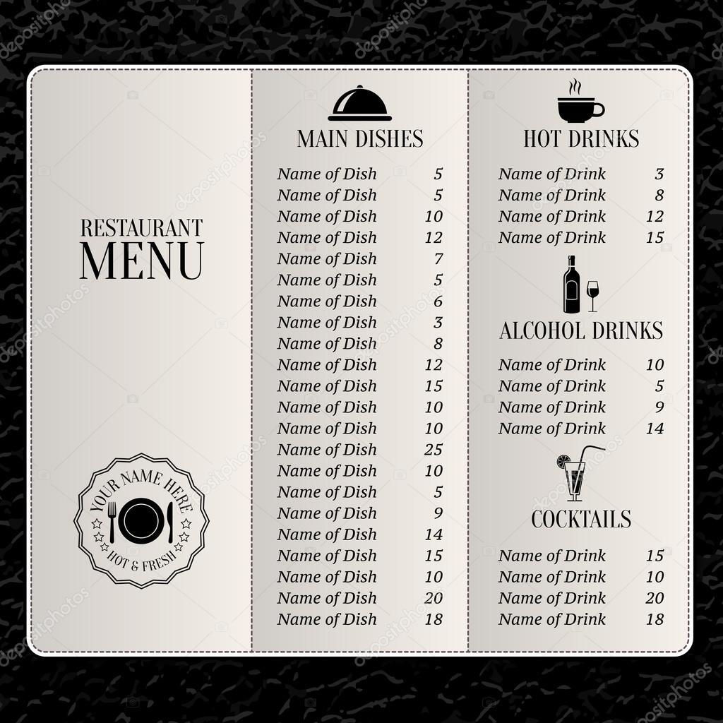 plantilla de menú de restaurante — Vector de stock © macrovector ...