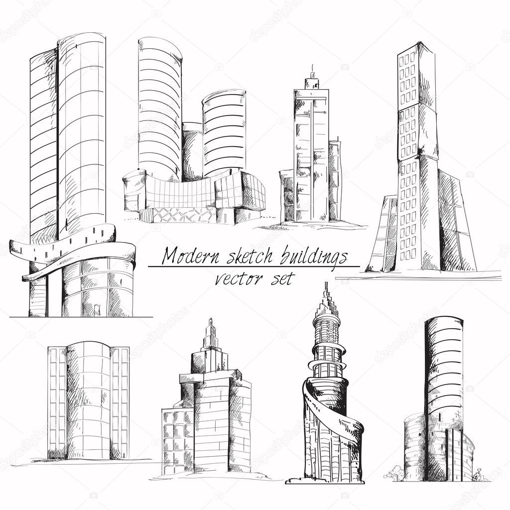 Modern Sketch Building Stock Vector 46559791