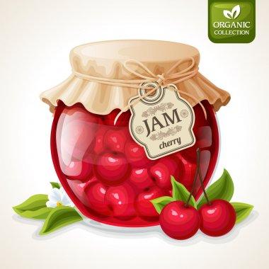 Cherry jam jar