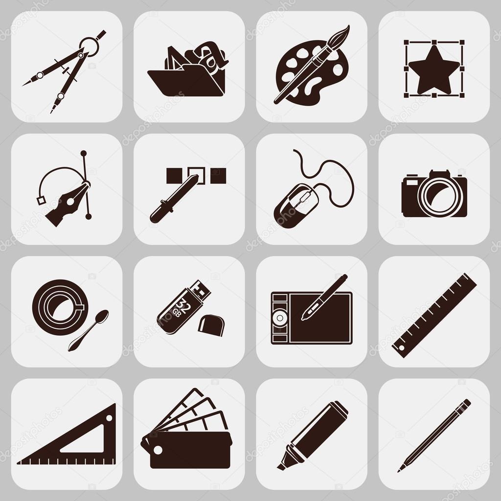 Designer Tools Black Icons