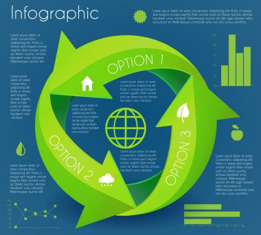 Arrow infographic eco circle