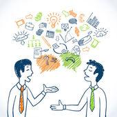 Photo Doodle business conversation
