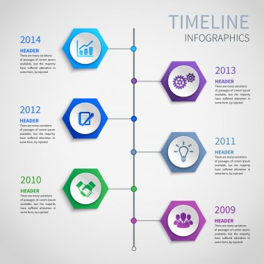 Paper timeline infographics