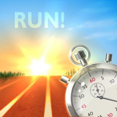 Stopwatch sport poster