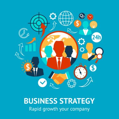 Business and management modern concept