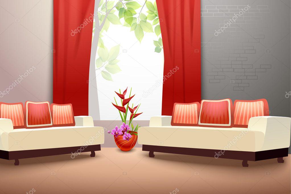 Innenarchitektur wohnzimmer stockvektor macrovector for Innenarchitektur wohnzimmer