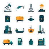 Photo Oil Industry Flat Icons