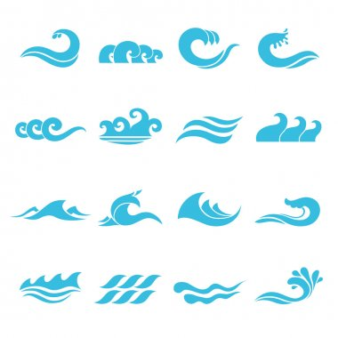 Waves Icons Set