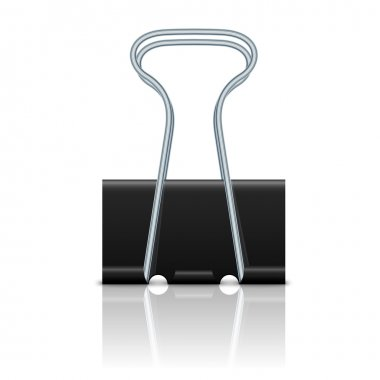 Binder clip isolated