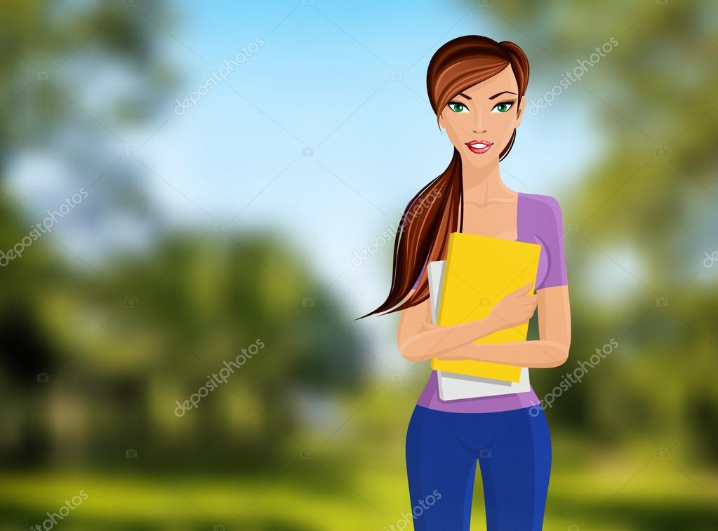 Girl student portrait