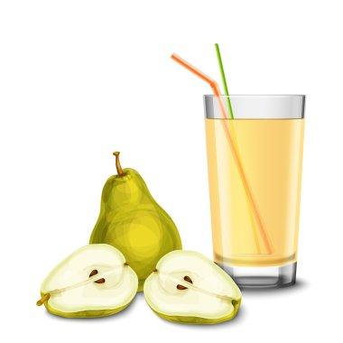 Pear juice glass