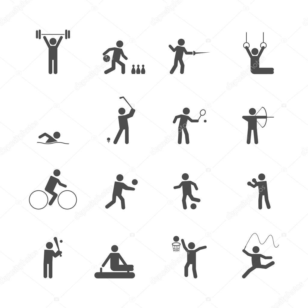 Sport Icons Set Stock Vector Macrovector 48634125