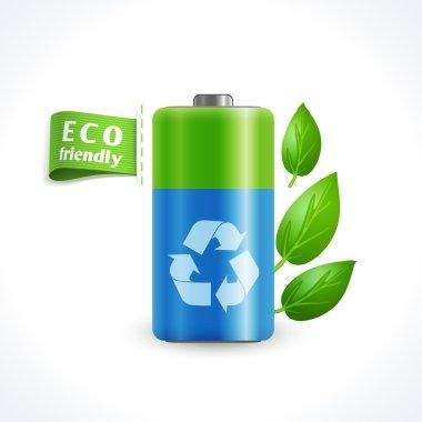 Ecology symbol battery