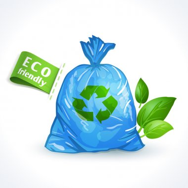 Ecology symbol plastic bag