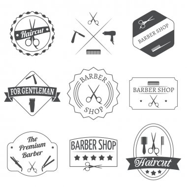 Hairdresser label set