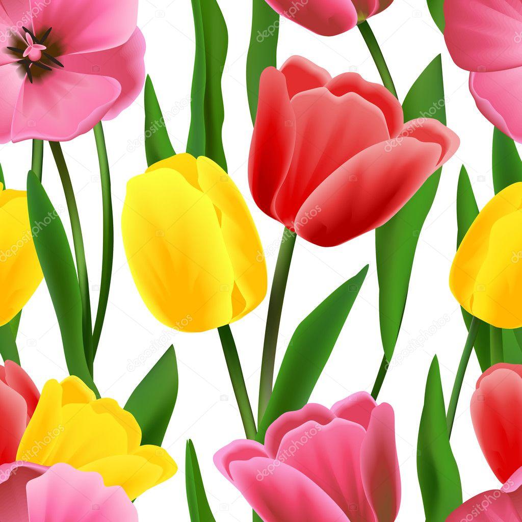 Tulip pattern seamless