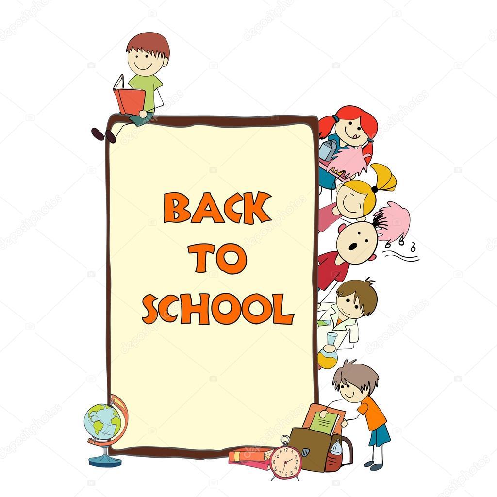 Kinder Schule Skizze poster — Stockvektor © macrovector #49162525
