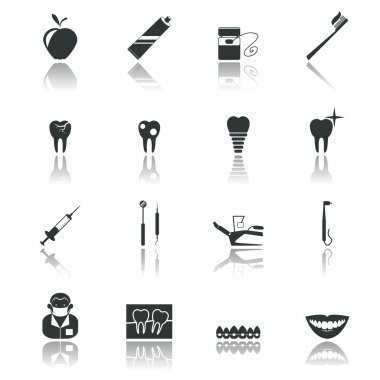 Dental icons black