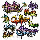 Graffiti szó készlet