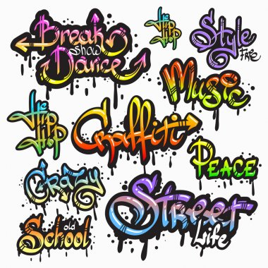 Graffiti word set