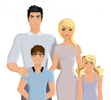 Happy family realistic