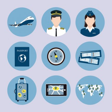 Airline Icons Set