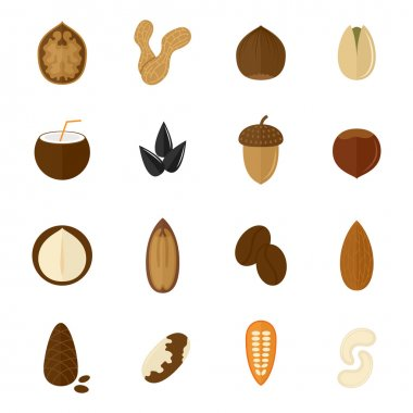 Set of nuts icons