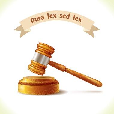 Law icon judge gavel