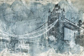 Fotografia Tower bridge di Londra, arte digitale