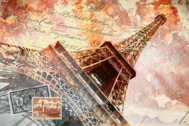 Eiffel tower in Paris, digital art stock vector