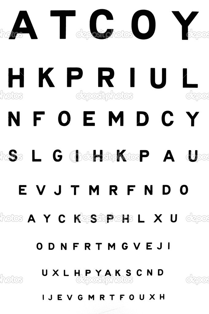 Eye Chart Stock Photo A40757 39950369