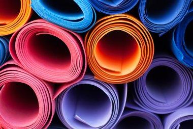 Colorful yoga mats
