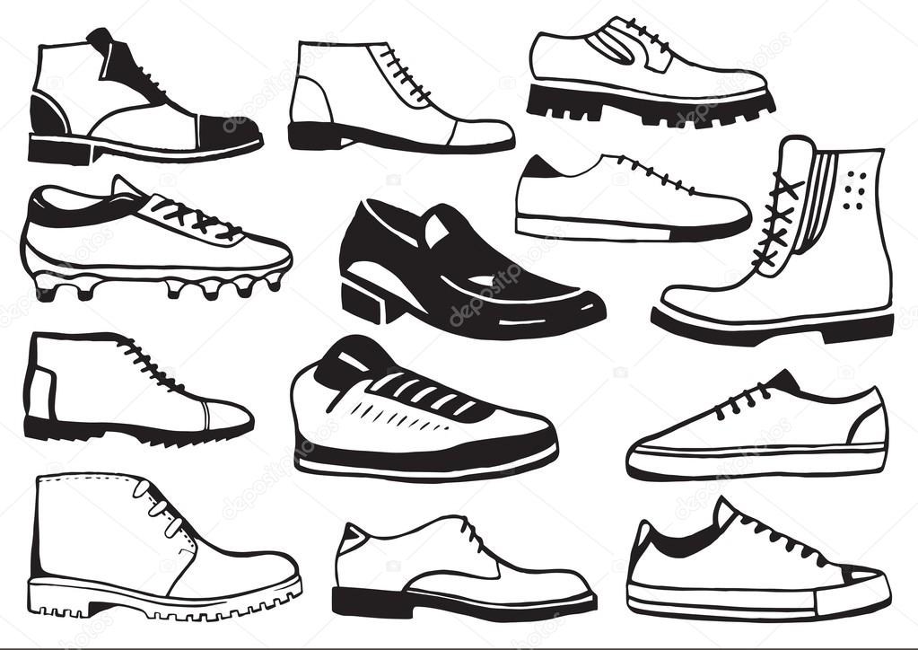 Men Shoes Drawing