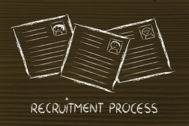 Funny curriculum vitae design, the recruitment process