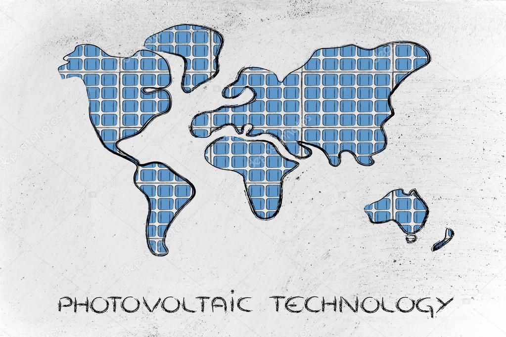World map covered in solar panels stock photo faithie 45726055 world map covered in solar panels stock photo gumiabroncs Image collections