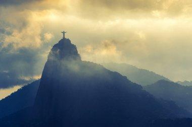 Sunset at christ redeemer, Rio de Janeiro, Brazil