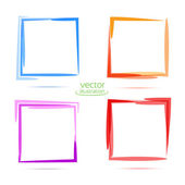 Four squares for your business. Blue, orange, purple, red