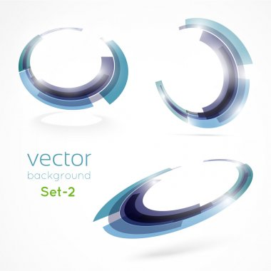Abstract blue circle technology for your business. Vector illustration. Set - 2