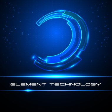 Equalizer abstract blue circle technology for your business. Vector illustration.