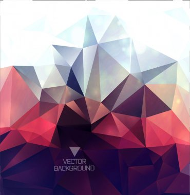 Abstract polygonal background triangles background