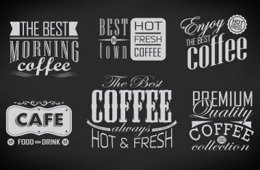 Set of coffee labels