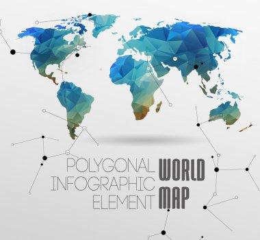 мировая карта и информационная графика