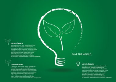 Save world icon vector Background