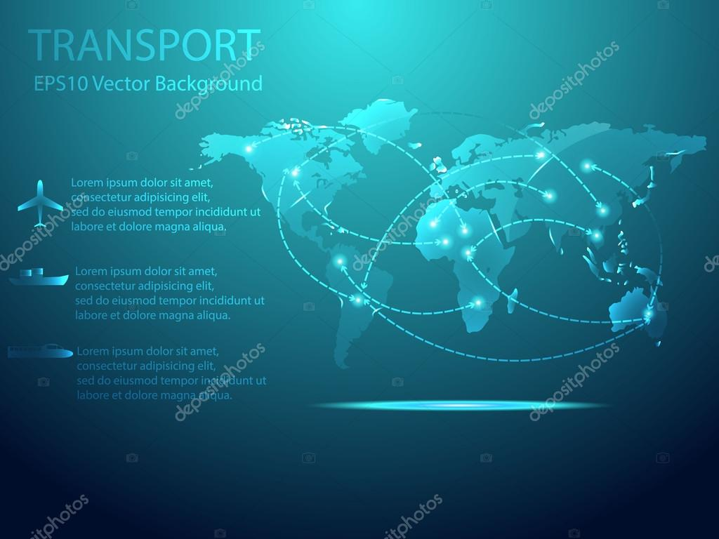 Abstract transport with world map background vector illustration abstract transport with world map background vector illustration stock vector gumiabroncs Choice Image