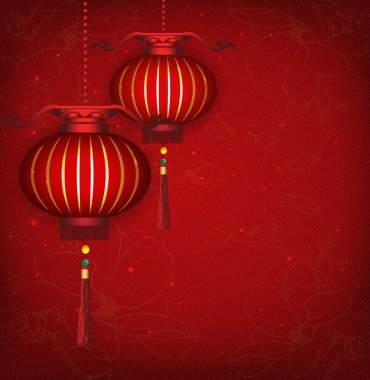 Chinese New Year Lantern Background. Vector illustration are layered for easy editing and changes.