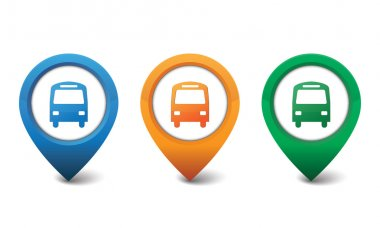Bus icon vector illustration