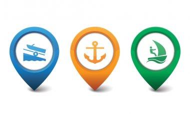 Marina, Sailboat, Boat Ramp icons